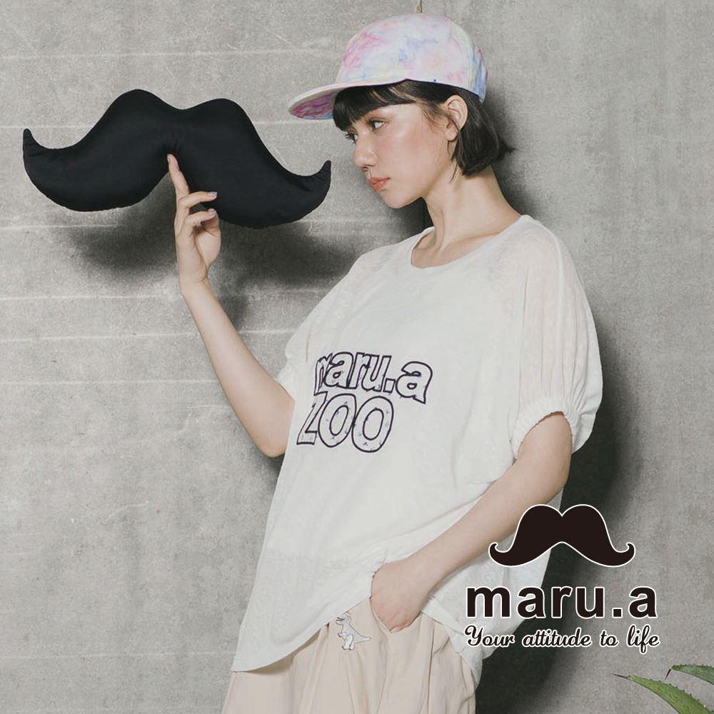 【maru.a】Maru.aZoo刺繡印花文字上衣 7323115 0