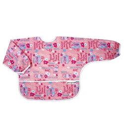 Baby City防水長袖圍兜1-3歲/粉色兔子【六甲媽咪】