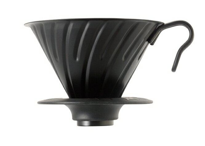 金時代書香咖啡  HARIO V60 02 金屬濾杯 黑金 2-4杯 VDM-02-MB
