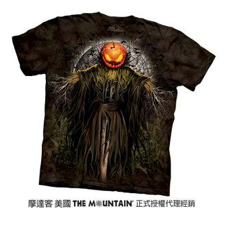 【摩達客】美國進口The Mountain 萬聖稻草人 純棉環保短袖T恤