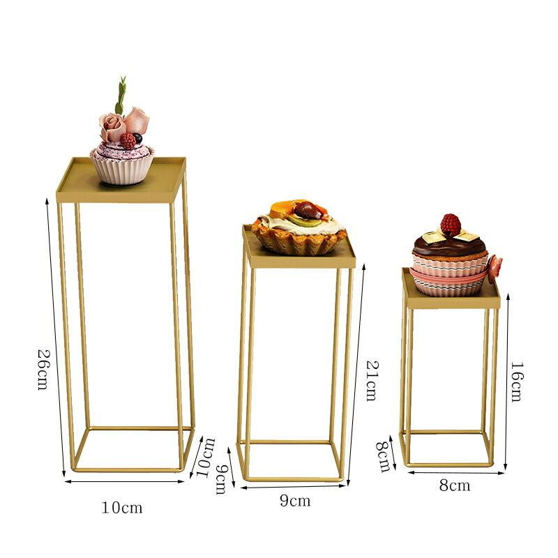 蛋糕架 歐式婚禮布置甜品台擺件套裝下午茶點心盤蛋糕托盤展示架茶歇擺台【HZL2143】