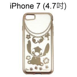 迪士尼電鍍軟殼[項鍊]史迪奇 iPhone 7 (4.7吋)【Disney正版授權】