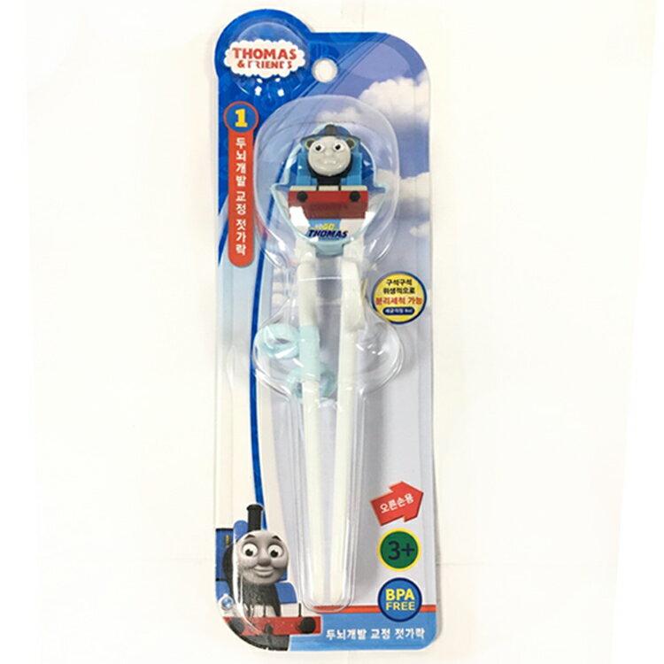 韓國製 湯瑪士 矽膠 學習筷 兒童 學習餐具 環保餐具 方便攜帶 卡通造型 右手用 韓國進口正版 702825