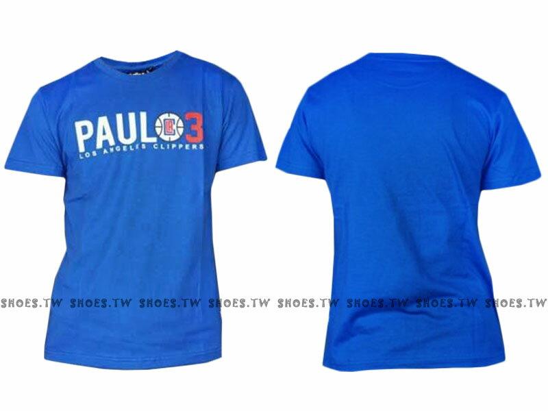 《限時5折》Shoestw【8630234-124】NBA 背號T恤 洛杉磯 快艇 PAUL3 藍色