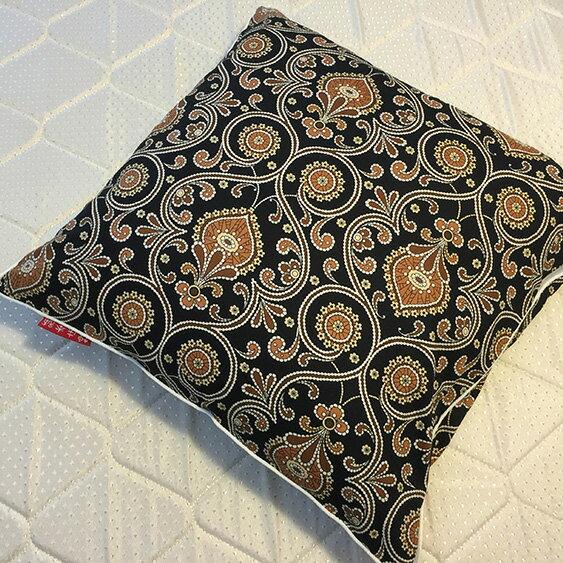 黑色波西米亞 抱枕  45cmx45cm 精選素材 復古 純棉 3