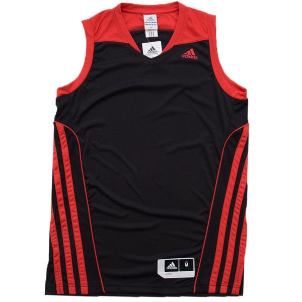《精選服飾↘市價65折》Adidas ALLSTAR TEAM SPEED 男裝 上衣 球衣 籃球 黑 紅 【運動世界】 G78192