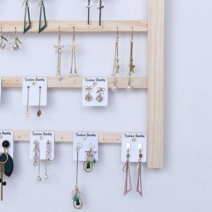 耳環展示架 耳環架掛牆首飾架收納大容量耳飾卡紙陳列道具耳釘架子飾品展示架『LM1779』