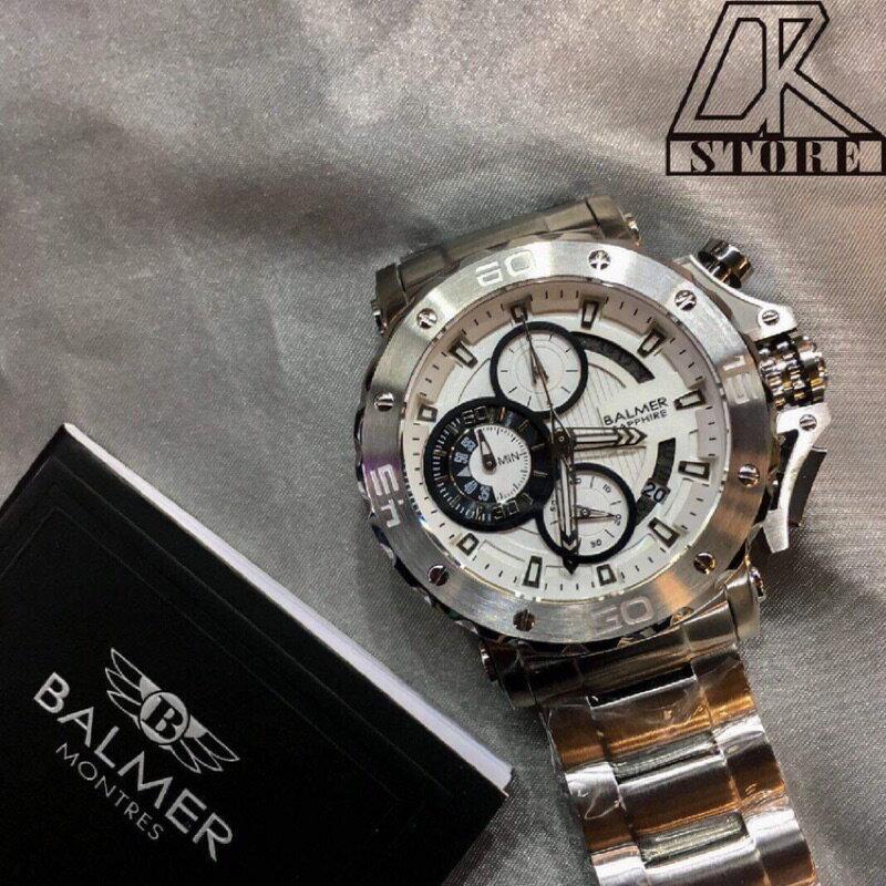 -DTK-官方授權經銷🎖實體店面 BALMER 賓馬王 賓馬7975 鋼錶帶 三眼錶 男錶 石英錶 藍金 黑金 黑 6