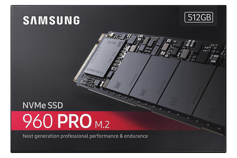 Samsung SSD 960 Pro 512GB M.2 2280 512G PCIe Gen3 x4 PCI-Express 3.0 x4 NVMe 3D V-NAND Internal Solid State Drive MZ-V6P512BW 2