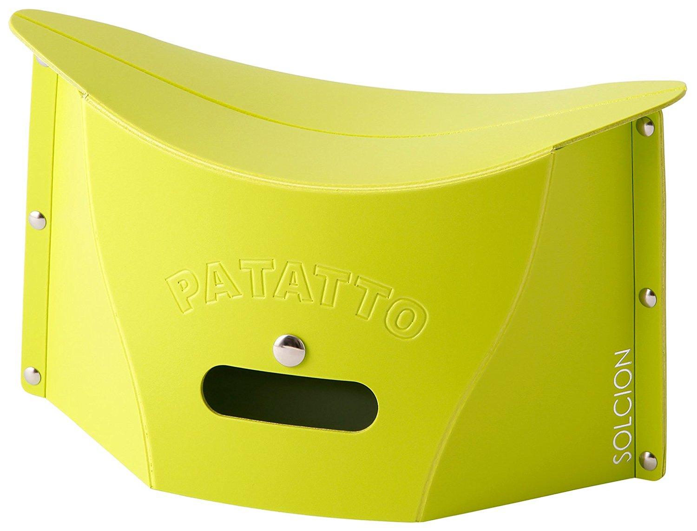 X射線【C642637】PATATTO mini超輕量可折疊攜帶式椅子S-綠,露營椅/收納椅/造型椅/折疊椅/凳子/矮凳/板凳/椅子