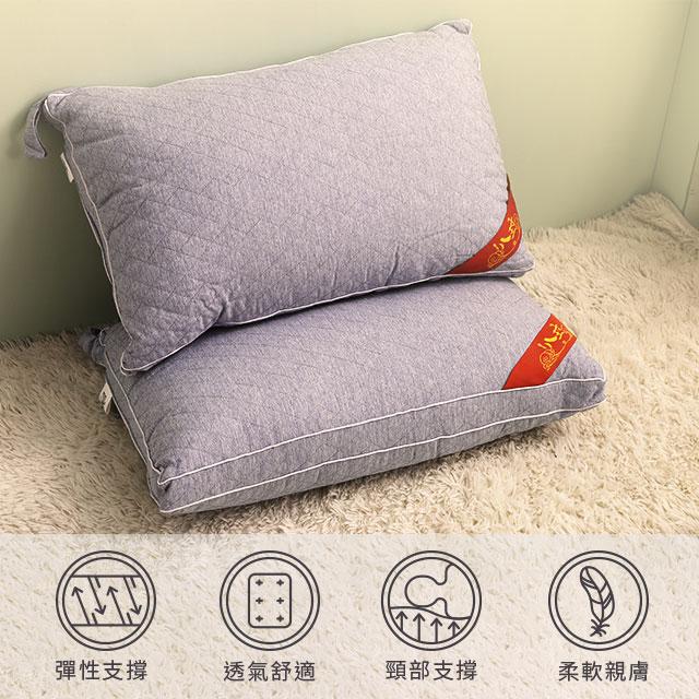 獨立筒枕 枕頭 棉枕 可水洗枕 表布親膚材質 支撐力佳  VIP立體獨立筒枕 (白色/灰色) 居家良品推薦 亮亮生活居家