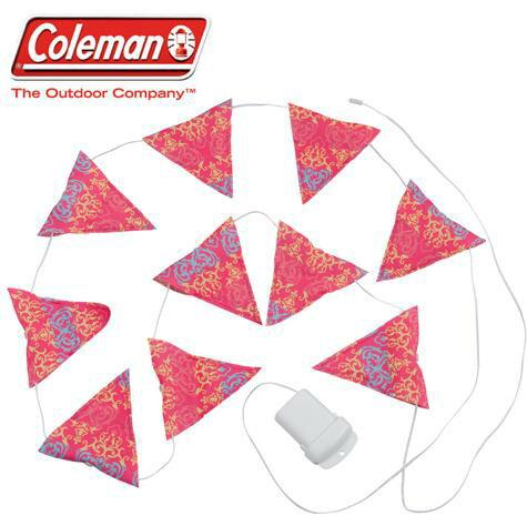 Coleman LED串燈/露營燈/三角旗聖誕燈 CM-22289J 粉/台北山水