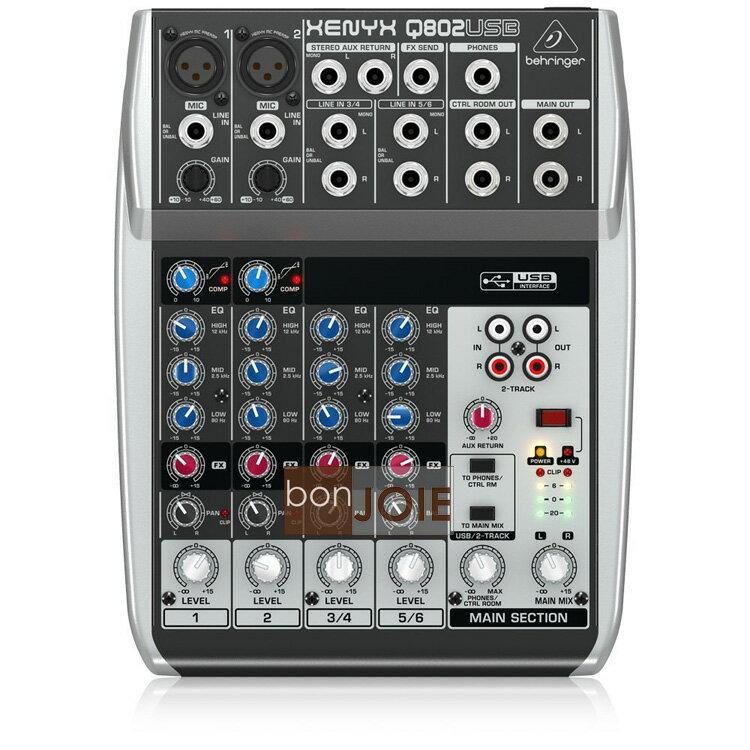 ::bonJOIE:: 美國進口 Behringer Xenyx Q802USB Audio Mixer 混音器 (全新盒裝) USB介面 德國耳朵牌 Q802 USB 介面