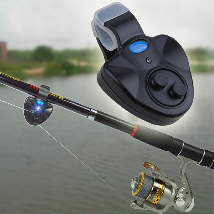 LED Clip Light Fishing Rod Electronic Bite Alarm Fish Ringer Battery 0