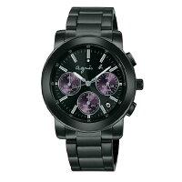 agnès b.手錶推薦到agnes b BWY058P1(V654-KP30P)(VD53-KP30P)夢幻紫三眼時尚腕錶/黑面38mm就在大高雄鐘錶城推薦agnès b.手錶