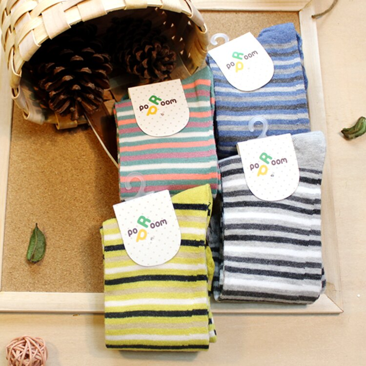 襪子 古著復古 氣質 SEIO  獨特圖型 百搭 低調配色 細條紋 襪子 ^(4色^)