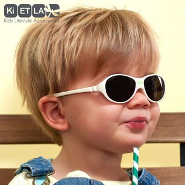 飛炫寶寶【法國KIETLA】Jokaki喬克奇幼兒太陽眼鏡(12-30months牛奶白)