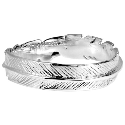 Spiritual Embrace Feather Wrap .925 Sterling Silver Ring 1