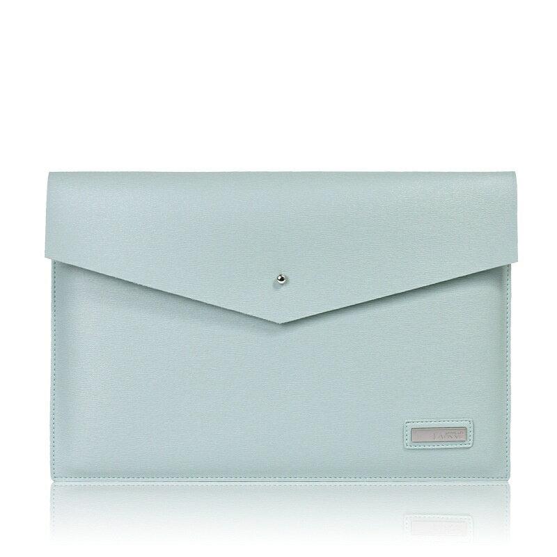 手拿包皮革電腦包-商務純色簡約信封包男女包包3色73vy39【獨家進口】【米蘭精品】 2