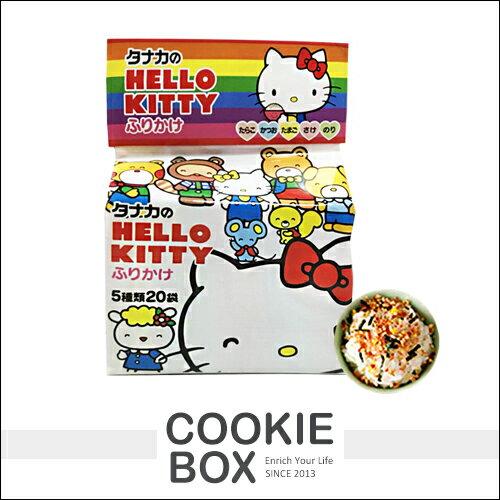 日本田中食品HelloKitty凱蒂貓飯友綜合香鬆20袋入(附玩具)飯友拌飯海苔*餅乾盒子*
