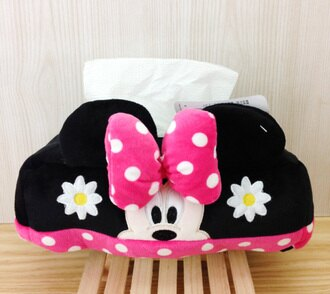【真愛日本】16011400004 造型鋪棉面紙套-MN 米奇米妮 迪士尼 面紙套 面紙盒 生活雜物 居家