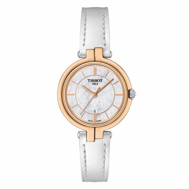 TISSOT天梭表 T0942102611101 FLAMINGO時尚女仕時尚腕錶/珍珠母貝面26mm