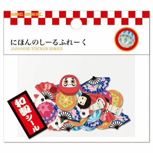 PS Mall 日本系列貼紙包 和紙金箔 40枚入 行李箱貼紙【J074】