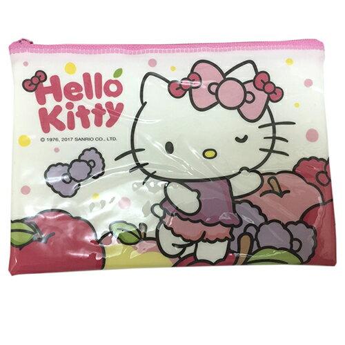【真愛日本】17031300004 亮面拉鍊資料袋-KT白日夢 三麗鷗 Hello Kitty 凱蒂貓 收納袋 萬用袋