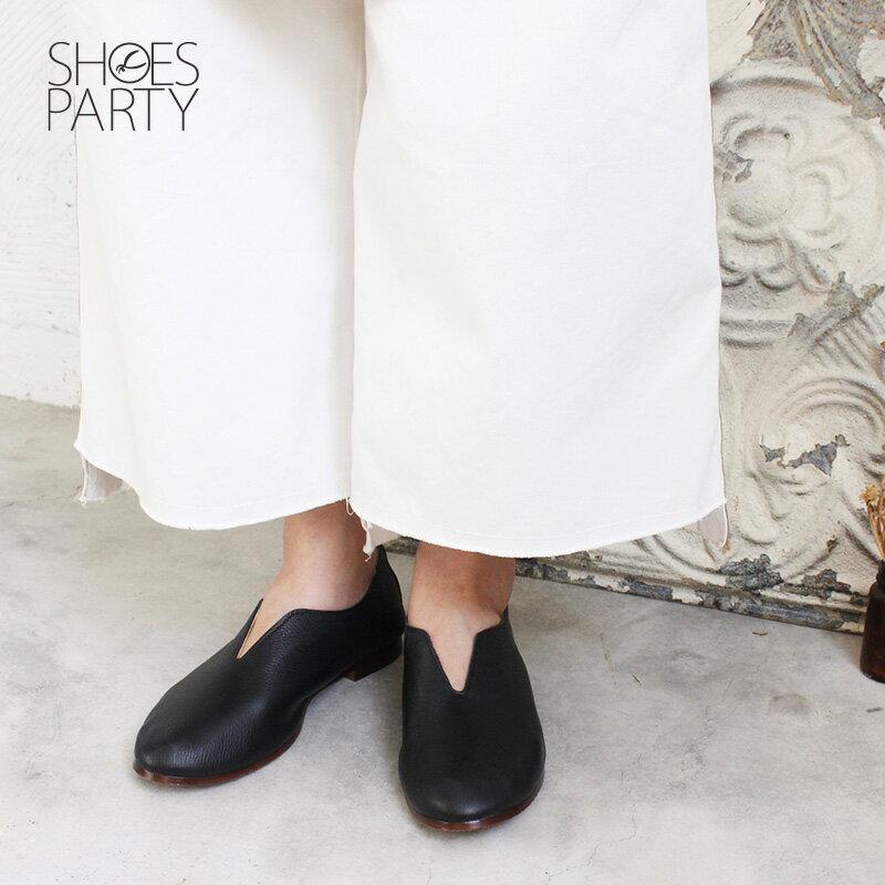 預購【F2-18814L】長腿效果V口真皮便鞋-日本製_Shoes Party 1