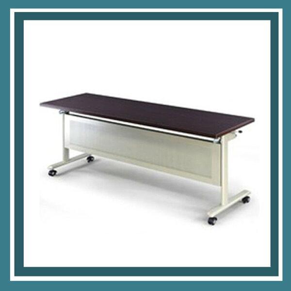 『商款熱銷款』【辦公家具】KC-1845E香檳骨架黑胡桃桌板會議桌辦公桌書桌桌子