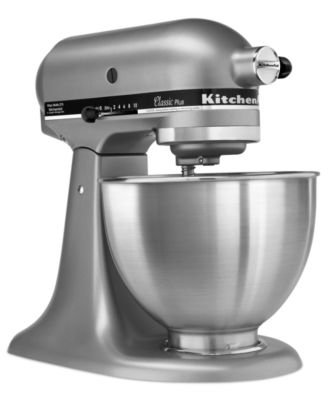 全新美國 台灣保固一年 KitchenAid Classic Plus Tilt-Head 4.5QT銀色 4-1/2-Quart Stand Mixer 5qT 6qT