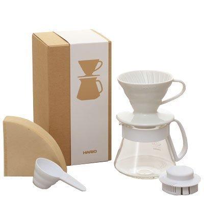 日本 HARIO 咖啡濾器組合 V60 同色系紀念款 VDS-3012W VDS-3012R 陶瓷濾杯+耐熱玻璃壺+濾紙 『可刷卡、超商取貨免運』