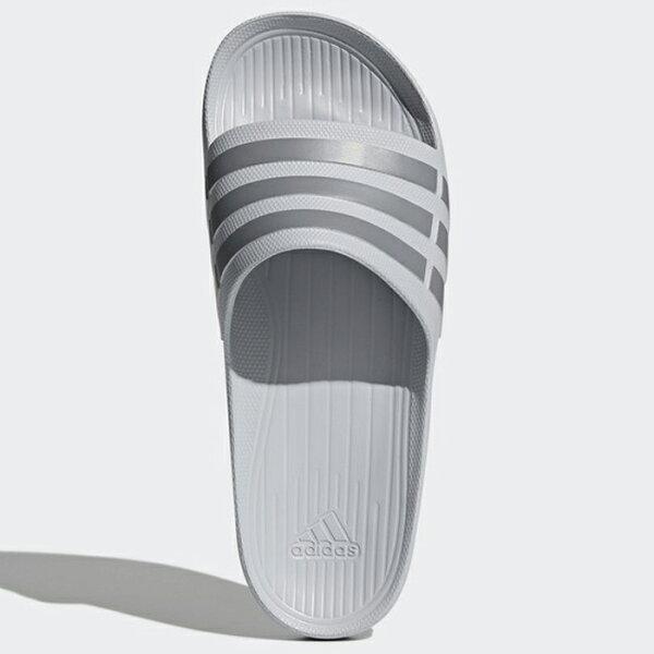 AdidasDuramoSlide男鞋女鞋拖鞋防水海灘一體成形灰【運動世界】B44298