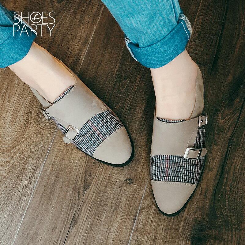 【C2-18127L】英倫風拼接孟克鞋_Shoes Party 3