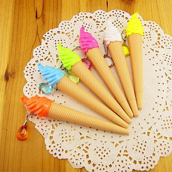 ●MYCOLOR●冰淇淋造型中性筆禮品黑色墨水學生用品設計辦公用品創意文具獎品童趣原子筆【P134】