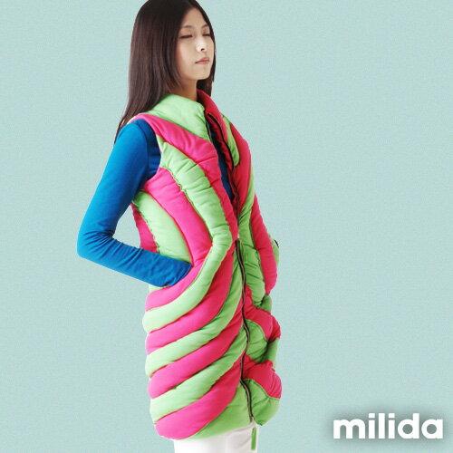 【Milida,全店七折免運】-秋冬單品-背心款-保暖鋪棉背心