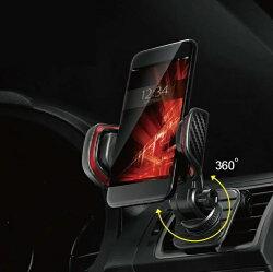 【車寶貝推薦】CARMATE 冷氣孔快取手機架-紅 SA18