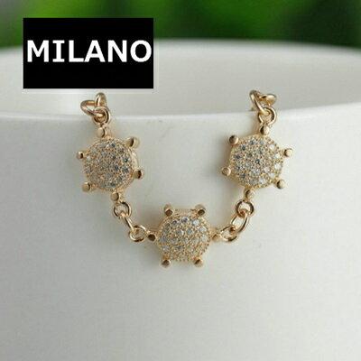 玫瑰金手鍊 鑲鑽純銀手環 ~ 獨特 魅力情人節生日 女飾品2色73dl32~ ~~米蘭 ~