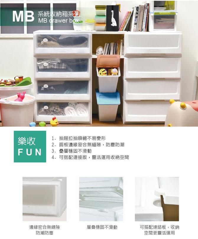 樹德 樂收FUN大收納箱/MB-5503/雪白面板