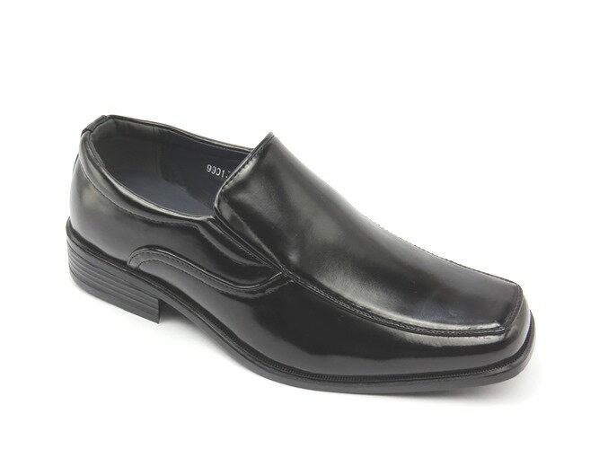 *男皮鞋* 時尚舒適方頭排壓氣墊皮鞋77-9901(黑)☆【彩虹屋】☆