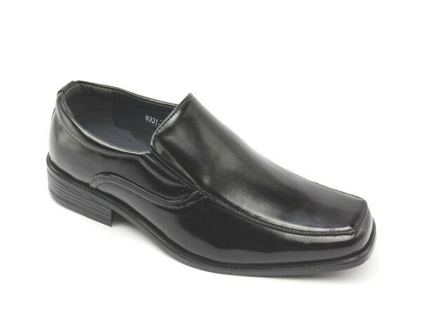彩虹屋美鞋:*男皮鞋*時尚舒適方頭排壓氣墊皮鞋77-9901(黑)☆【彩虹屋】☆