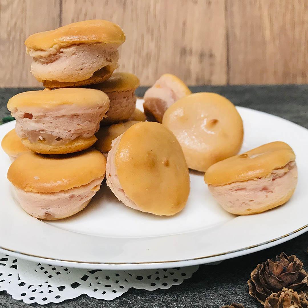 芋頭乳酪球一盒32入+芋泥天使蛋糕5吋1入(含運)【杏芳食品】