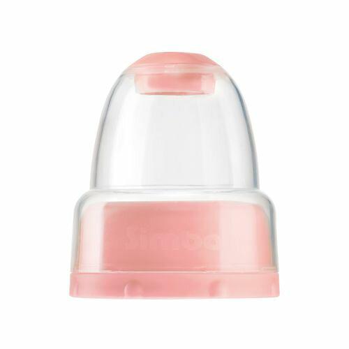 六甲媽咪親子生活館:小獅王辛巴Simba蘿蔓晶鑽奶瓶不滴水標準瓶蓋組粉紅色【六甲媽咪】