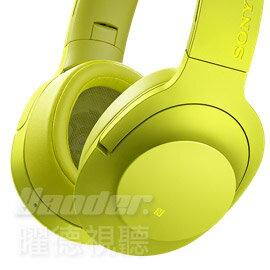 ~曜德~送收納盒~SONY MDR~100ABN 黃色 頭戴式抗噪耳麥 無線藍芽NFC ~