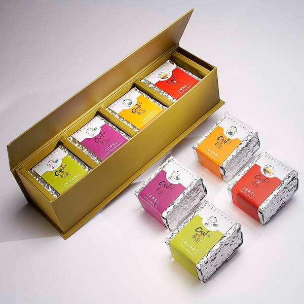 欣悅茶葉禮盒-四寶(金萱+翠玉+四季春+鐵觀音,各75g)
