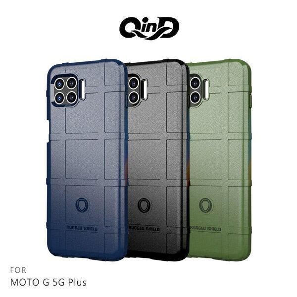 【愛瘋潮】免運  保護套 QinD  MOTO G 5G Plus 5G 戰術護盾保護套 背蓋式 手機殼 鏡頭加高 軟殼 保護殼