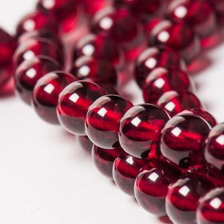 流行飾品 水晶酒紅石榴石108顆佛珠纏繞手鏈女款