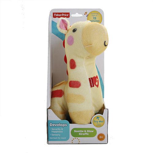 Fisher Price費雪 聲光安撫小長頸鹿 (黃色款) 助眠玩具