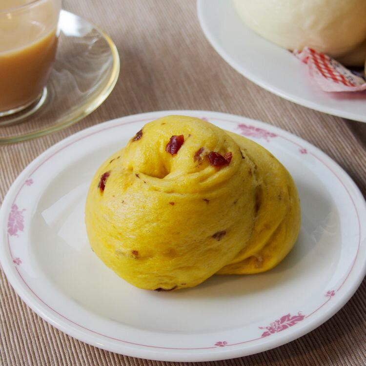 [真饅頭] 薑薑好 (紅薑黃+莓果捲饅頭 - 純素)