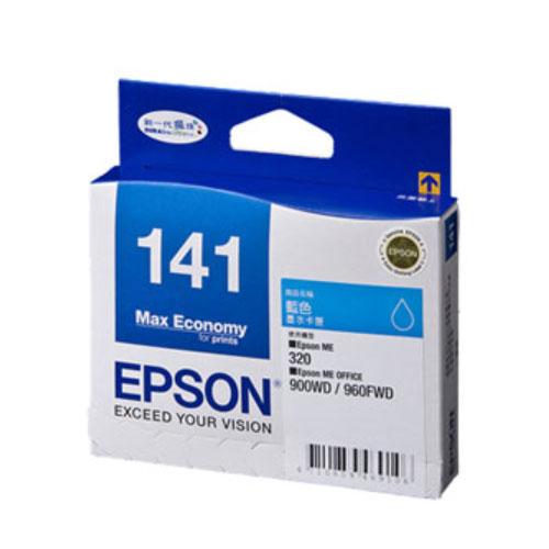 【EPSON墨水匣】T141250(141)藍色原廠墨水匣